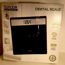 Taylor Digital Bath Scale 350 Lbs. Black With Brushed Stainless Steel Accent New