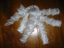 Ornamento per Testa Matrimonio Lockenbänder ~ Fatto Mano ~ Bianco Tulle  Ricci d843f821e00b