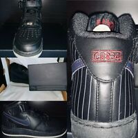 Nike Air Force One Mid Premium Mens Size 8.5 Black Charles Barkley CB34 Limited