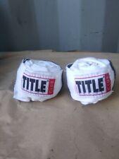 Title Boxing White Wrist Wraps