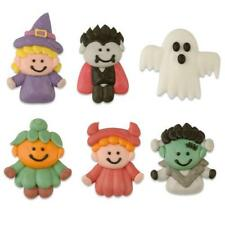 EDIBLE SUGAR SPOOKY HALLOWEEN FIGURES for Cupcake Toppers / Cake Decoration