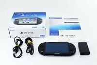 Sony PS Vita Black PCH-2000 w/ Charger and Box From Japan [Excellent+]