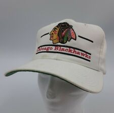 Vintage NHL CHICAGO BLACKHAWKS The Game Hat - Split Bar 3 Bar Logo