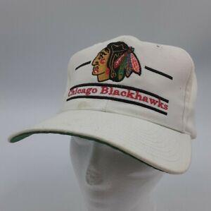 Vintage NHL CHICAGO BLACKHAWKS The Game Hat - Split Bar 3 Bar Logo