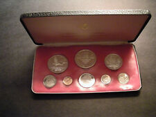 1975 Cayman Islands Set 8-coin Proof Set (4 Silver) w Case & Coa Royal Canadian