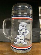 vintage 1984 Los Angeles Olympic Games large glass mug/beer stein/tankard