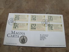 2015 FDC / First Day Cover - The Magna Carta / Foundation of Liberty