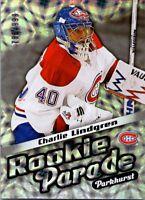 2016-17 Parkhurst Hockey Rookie Parade Card #RP11 Charlie Lindgren 788/999