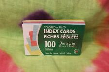 Jot 100 Colored Ruled 3 X 5 Index Cards For Home School Office