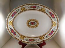 "Oval Serving Platter (13""), Wedgwood China, Columbia Pattern (W595), Dragons"