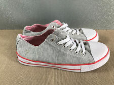 BNWT Older Girls ladies Sz 7 Rivers Doghouse Brand Grey lace up Canvas Shoes