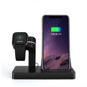 2in1 Charger Station Charging Dock Stand For Apple Watch iPhone 12 Pro Max 11 XS