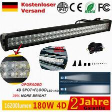 """34"""" Rampe 180Watt 4D Epistar LED Arbeitsscheinwerfer SUV Offroad Boot Lichtbalke"""