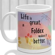 Foldex cat mug, Foldex cat gift, ideal present for cat lover