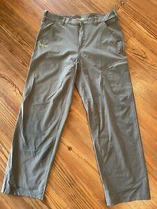 HUK Performance Fishing Gray Packable Pants Medium