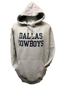 Dallas Cowboys Men's Big & Tall Coaches Pullover Hoody Sweatshirt - Gray