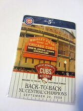 2013 Aunt Millie's Bread - Chicago Cubs #5 Back-to-Back Central Champions Card