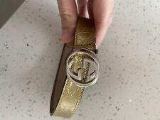 Gucci Kids Belt Gold Patent Size Large Size 10-12yrs