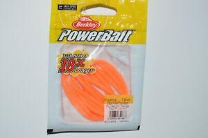 "berkley powerbait floating trout worm bait 3"" fluorescent orange 18X longer hold"