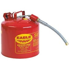 "Eagle U2-51-S Red Galvanized Steel Type II Gas Safety Can with 7/8"" Flex Spou..."