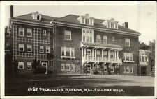 Pullman WA WSC State College President's Mansion c1915 Real Photo Postcard dcn