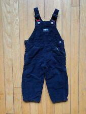 Oshkosh B'Gosh Overalls Navy Corduroy Flannel Thermal Size 12 mos