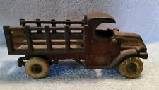 Vintage 7 inch Cast Iron Champion Mack Stake Truck with original tires