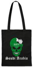 Saudi Arabia Football Skull I Shopper Shopping Bag Soccer Flag World