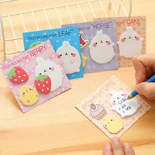 Rabbit Animal Sticky Notes Sticker Offce School Supplies Student Stationery SES