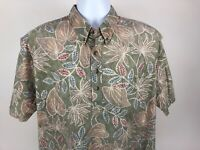 Tori Richard Honolulu Mens Designer S/S Lightweight Hawaiian Shirt Large 23.5-29