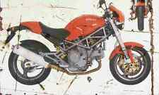 Ducati Monster 1000DS 2003 Aged Vintage SIGN A3 LARGE Retro
