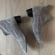 Zara Glitter Sock Boots - UK4