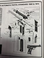 Exploded View Browning 380 Caliber Standard  1969 to 1974 Auto Pistol