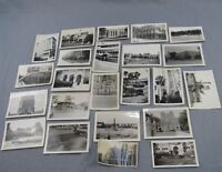 Estate Lot 23 Vintage Architecture Photographs Black & White Photos Mid-Century
