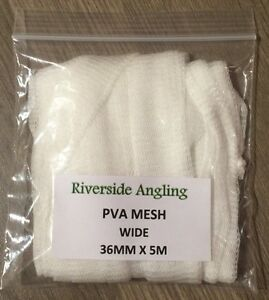PVA Mesh Refil  36mm x 5M wide Stocking Carp Boilie Bait Bags
