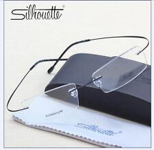 7378 Silhouette Ultra-Light Titanium Rimless Big Glasses Frame Eyeglasses Frame.
