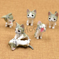6pcs Anime Chi's Sweet Home Figure Cat Doll Cute Plastic Home Decoration Gift