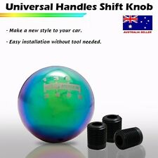Manual Car Chrome Universal Shift Knob Car Gear Stick Rainbow (MG) 0837