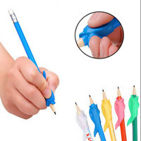 10Pcs Kids Silicone Hand Writing Gripper Dolphin Childrens Pencil Grip Corrector