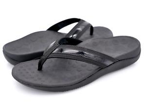 Orthaheel Vionic Womens Black Tide Comfort Casual Slip On Flip Flop Sandals