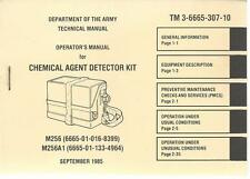 M256 Chemical Agent Detector Kit, Operator's