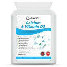 500 MG-calcio y vitamina D3 - 200iu - 60 Tabletas