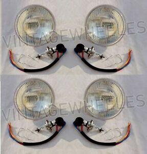 For Mercedes Benz Complete headlights Kit Set 4x R107 C107 W108 W109 W111 LHD
