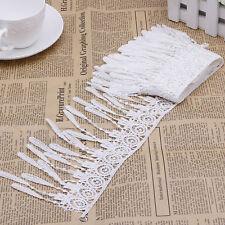 2 Yards White Lace Trims Fringe Sewing Tassels Hems Lace Costumes Decor