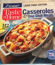 Taste of Home Books- CASSERROLES Vol. 2 LARGE PRINT EDITION Brand New EZ-READ