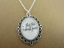 Semi Colon This Too Shall Pass Necklace New in Gift Bag Mental Health Awareness