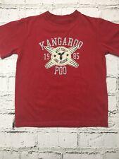 Boy's Kangaroo Poo T-Shirt Red Short Sleeve Casual Top 5-6 Years