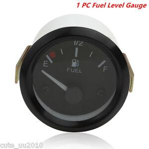 "2""LED Universal Car Fuel Level Gauge Meter With Fuel Sensor E-1/2-F Pointer"