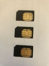Nextel 128K Sim Cards For all Sprint Nextel Iden Phones Simgus103R Lot of 3
