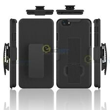 Combo Shell Case Cover Holster with Belt Clip with Stand for iPhone 5C Black